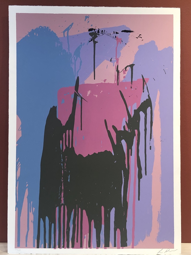 "Solitude nice landscape /& old trees stream 36/"" Large Oil painting Thomas Moran"