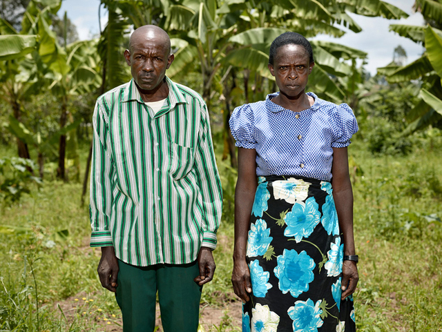 , 'Godefroid Mudaheranwa, perpetrator (left); Evasta Mukanyandwi, survivor From the Series Portraits of Reconciliation, a project of Creative Court,' 2014, galerie nichido / nca   nichido contemporary art