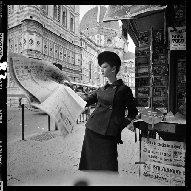, 'Newspaper Stand, Florence,' 1961, Peter Fetterman Gallery
