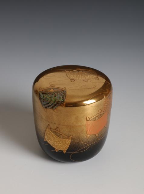 Soga Arai, 'Tea Caddy with Thread Spools (T-4399)', Showa era (1926, 89), 1980's, Erik Thomsen