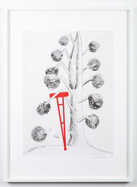 Louise Bourgeois, 'Topiary: The Art of Improving Nature, Tree with Red Crutch', 1998, Marlborough Graphics