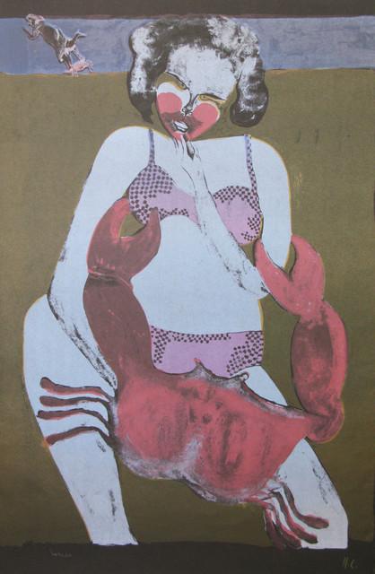 Francisco Toledo, 'Femme au Crabe (Fond Noir)', Galeria Oscar Roman