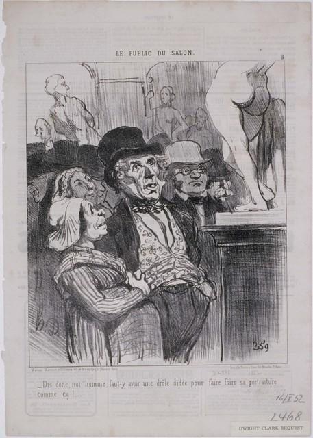 Honoré Daumier, 'Le Public du Salon: Dis donc, not'homme, faut-y...', 1852, Phillips Collection