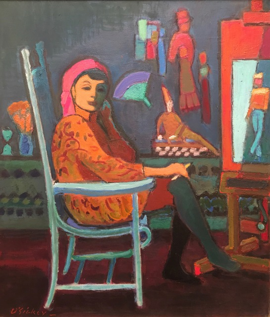 , 'Algesa in Turquoise Chair,' 1988, Corcoran Fine Arts