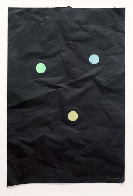 Stephen Dean, 'Juggler 19', 2014, Drawing, Collage or other Work on Paper, Aluminum paper and dichroic glass, McClain Gallery
