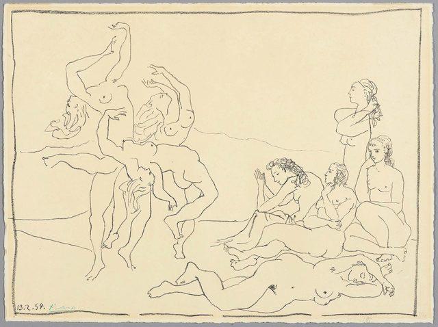Pablo Picasso, 'Danses', 1954, Print, Lithograph, Koller Auctions