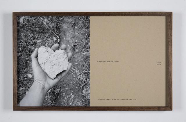 , '6th walking comma, 29 May, Cajas, ,' 2014, Galleria Raffaella Cortese