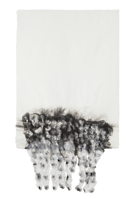 Ursula Von Rydingsvard, 'Untitled', 2009, Drawing, Collage or other Work on Paper, Thread, pigment, and linen handmade paper, Galerie Lelong & Co.