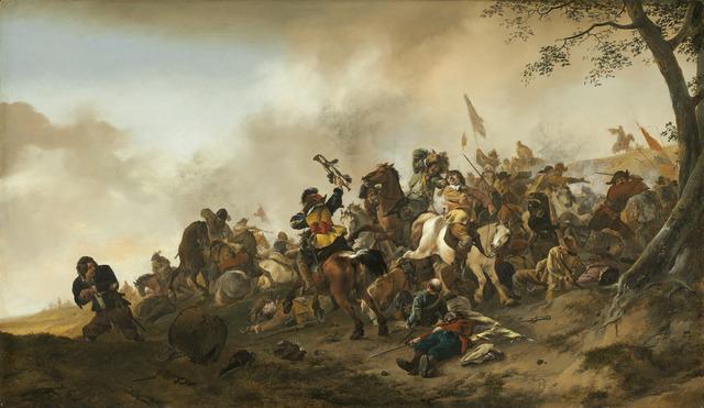 Philips Wouwerman, 'Battle Scene', ca. 1645/1646, Painting, Oil on panel, National Gallery of Art, Washington, D.C.
