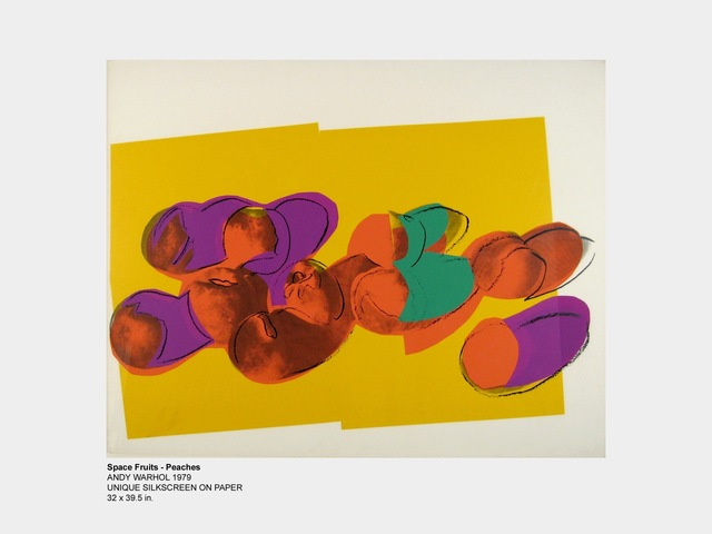 Andy Warhol, 'Space Fruit - Peaches', 1979, HG Contemporary