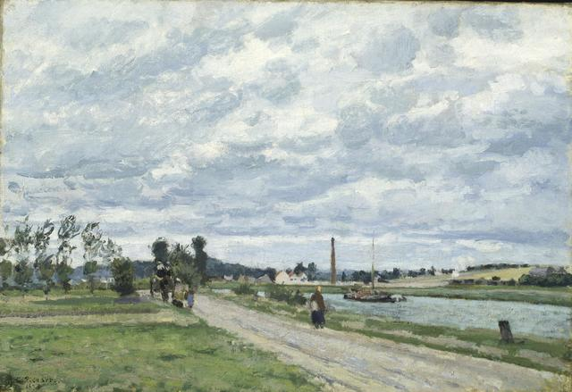 Camille Pissarro, 'The Banks of the Oise near Pontoise', 1873, Indianapolis Museum of Art at Newfields