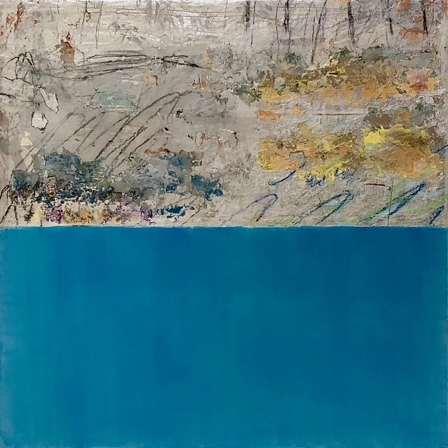 , 'Silver and Colour II Metallic Blue,' 2018, Fiumano Clase