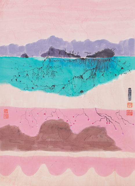 , 'Untitled (Fantasy Landscape with Undersea Mountains),' 1977, Hong Kong Arts Centre