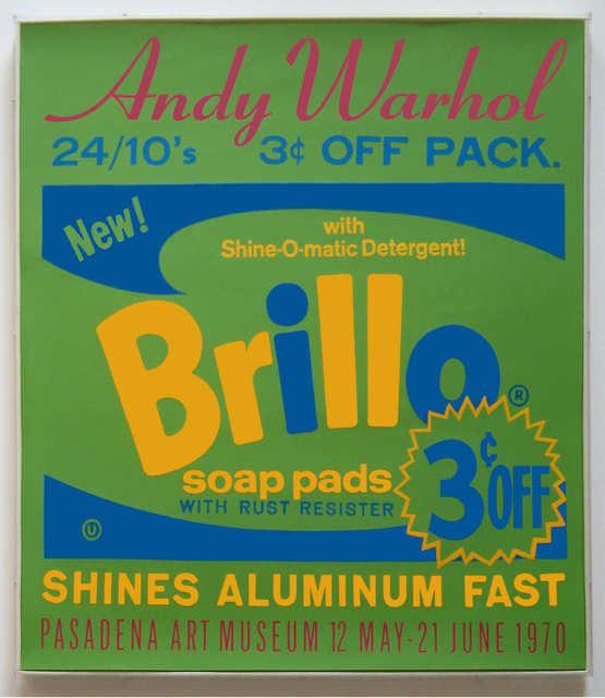, 'Original exhibition poster for Andy Warhol: Pasadena Art Museum [Brillo] (not in F. & S.),' 1970, Joseph K. Levene Fine Art, Ltd.