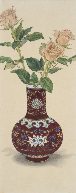 Lee Jung Eun (b. 1971), 'One vase', 2015, Drawing, Collage or other Work on Paper, Coloring on Korean paper (Jangji) 장지에 채색, Leehwaik Gallery