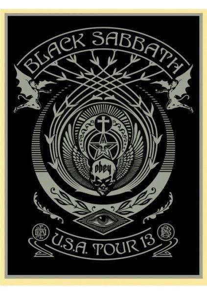 Shepard Fairey (OBEY), 'Black Sabbath USA Tour Silver', 2013, AYNAC Gallery