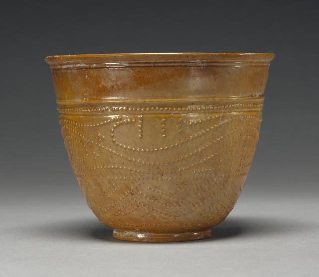 'Lead-Glazed Beaker',  1st century, J. Paul Getty Museum