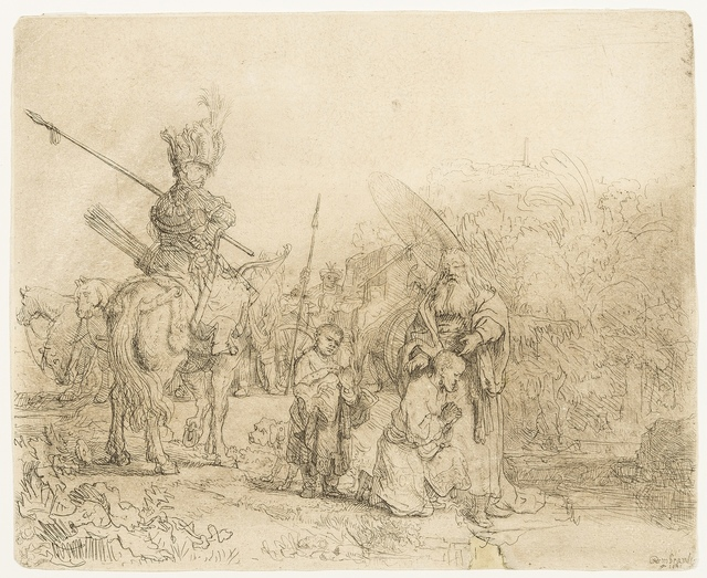 Rembrandt van Rijn, 'The Baptism of the Eunuch', 1641, Print, Etching with touches of drypoint and plate tone, Forum Auctions