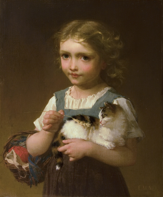 , 'Girl with Kitten,' 1878, Guarisco Gallery