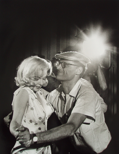 , 'Arthur Miller teaching Marilyn Monroe dance steps for a scene in The Misfits, a screenplay he wrote for her, Hollywood,' 1960, Richard Saltoun