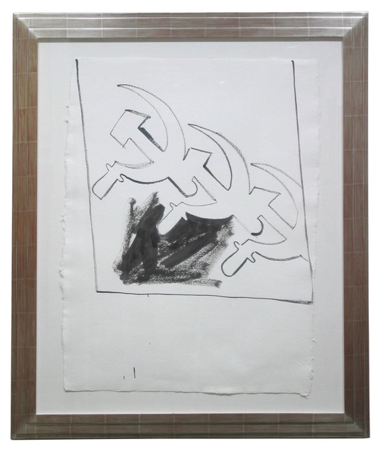 Andy Warhol, 'Three Soviet Hammer & Sickles', ca. 1983, Drawing, Collage or other Work on Paper, Synthetic polymer paint on HMP paper, Modernism Inc.