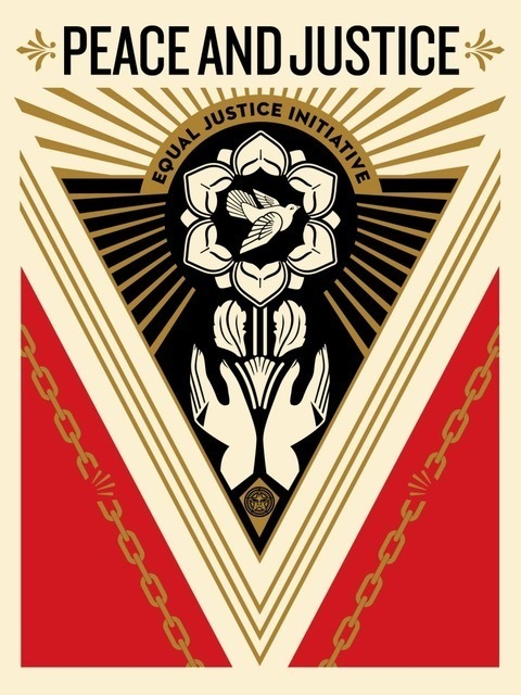 Shepard Fairey (OBEY), 'PEACE & JUSTICE SUMMIT', 2018, Perry J. Cohen Foundation Benefit Auction