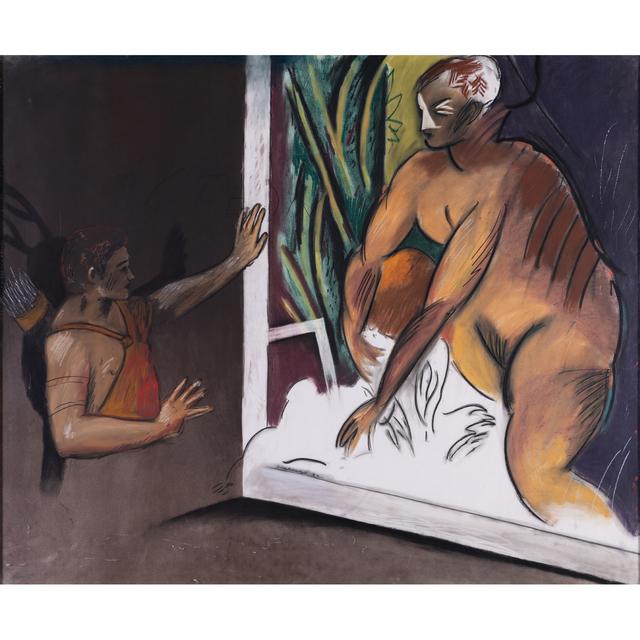 Jean-Michel Alberola, 'Ichnobatês #2', 1982, Drawing, Collage or other Work on Paper, Pastels gras de couleur sur papier, PIASA