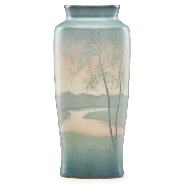 Rookwood Pottery, 'Scenic Vellum vase with sunset', 1912, Design/Decorative Art, Rago/Wright