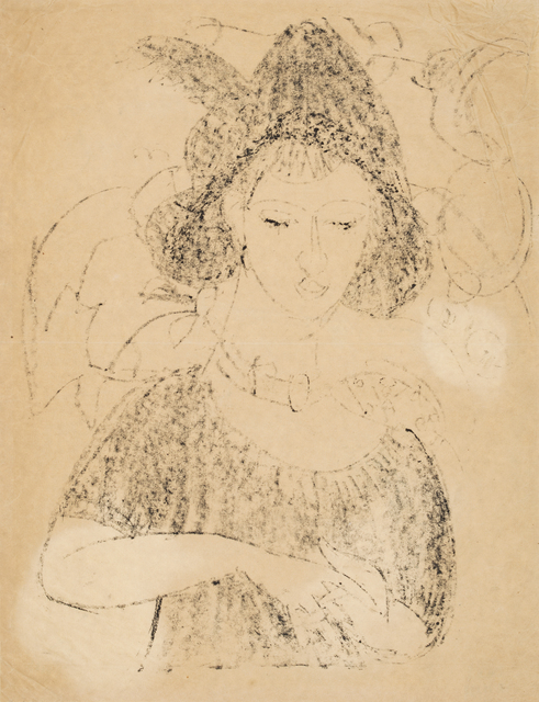 , 'Portrait of Dodo with Hat,' 1911, Galerie St. Etienne