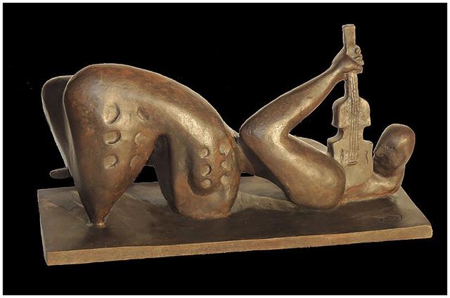 Alexandra Nechita, 'ALEXANDRA NECHITA Rebirth Of Words BRONZE SCULPTURE Signed Petite Picasso Art', 21st Century , Sculpture, Full Round Bronze Sculpture, Original Art Broker