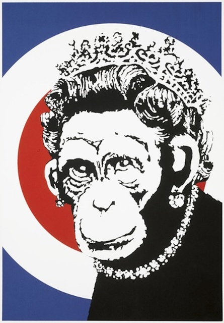 Banksy, 'Monkey Queen', 2003, Maddox Gallery