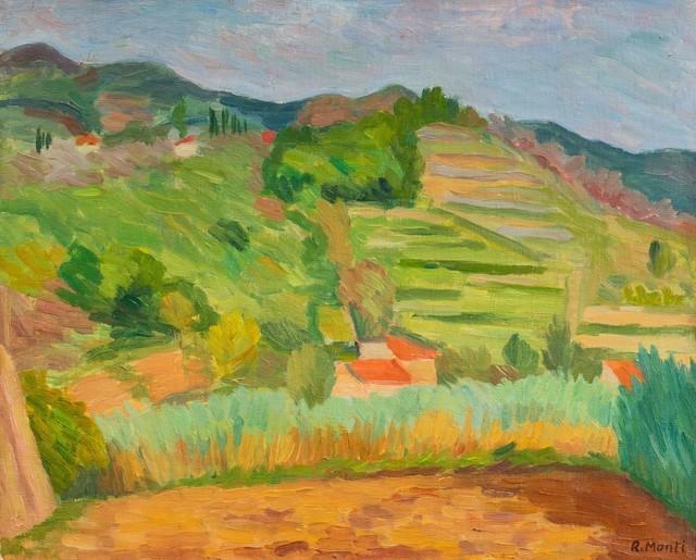 Rolando Monti, 'Paesaggio ligure', Finarte