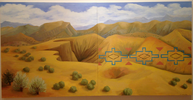 Kay WalkingStick, 'New Mexico Desert', 2011, Painting, Oil on wood panel, American Federation of Arts
