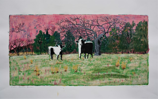 , 'Two Calves and Apple Tree   ,' 2017, Les Yeux du Monde Gallery