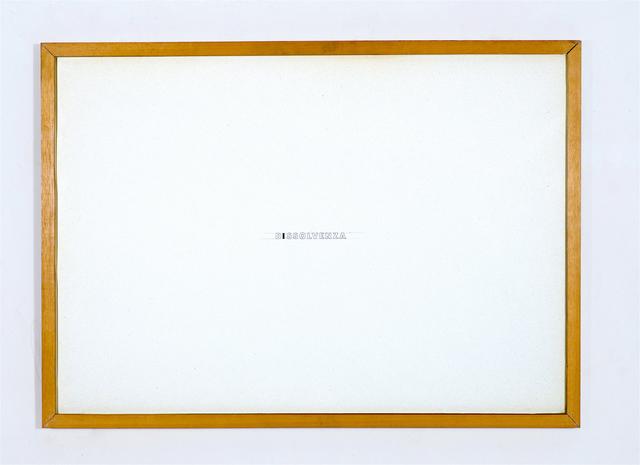 , 'Dissolvenza,' 1973, Galleria Fumagalli