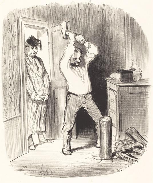 Honoré Daumier, 'Est-il dieu permis... fendre du bois...', 1847, National Gallery of Art, Washington, D.C.