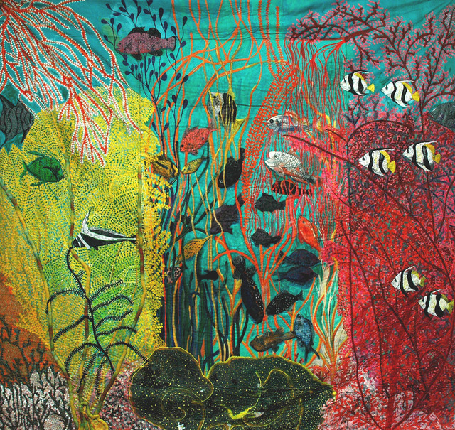 , 'Shallow gardens of Apo Reef,' 1986, Pacita Abad Art Estate