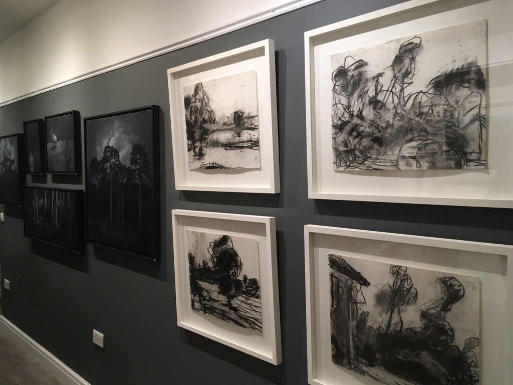 Charcoal drawings from The Loire series by Miles Heseltine