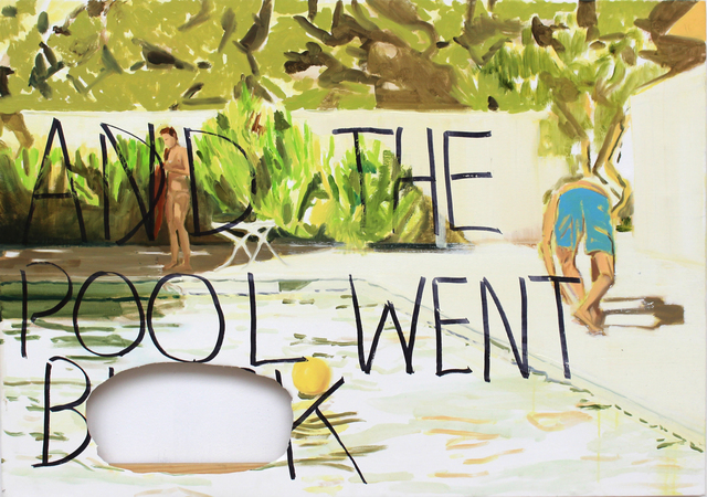 , 'And the pool went BLANK,' 2018, Bubenberg