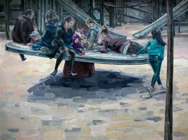, 'On a Raft,' 2016, Galleria Heino