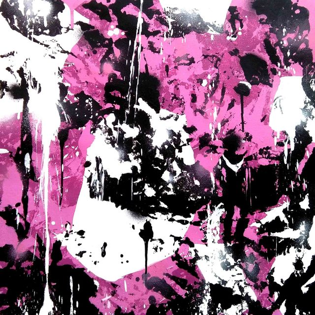 , '4 Pareidolic figures on pink background,' 2017, Pascal Fine Art
