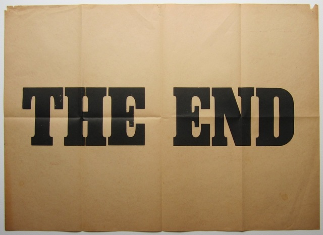 , 'The End, Ed. of 5,' ca. 1980, Casas Riegner