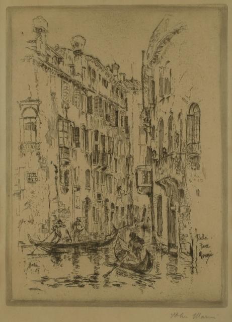 John Marin (1870-1953), 'Della Fava, Venice', 1907, Private Collection, NY
