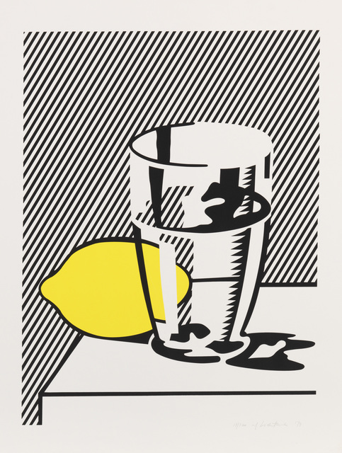 Roy Lichtenstein, 'Still Life with Lemon & Glass', 1974, Print, Lithograph and screenprint with debossing on smooth white wove paper, Fine Art Mia