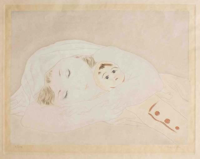 Léonard Tsugouharu Foujita, 'Child with a doll', ca. 1930, Wallector