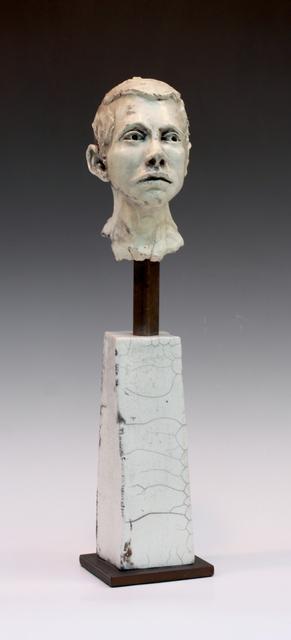 , 'Man on Pillar looking to side v3,' 2014, Maria Elena Kravetz