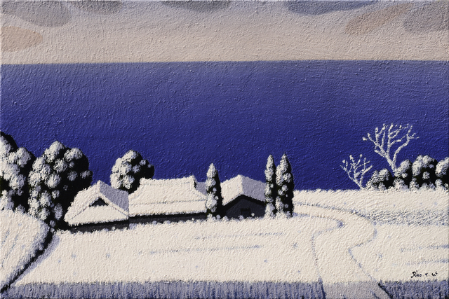 , 'Winter-Seaside(겨울-해변마을),' 2014, Galerie Bhak