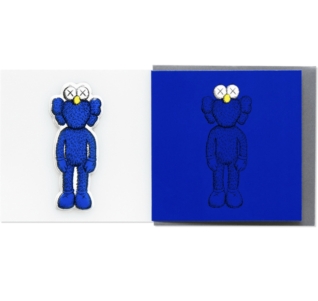 KAWS, 'KAWS x NGV BFF Greeting Card with Puffy Sticker (Blue)', 2019, Print, Paper, Curator Style