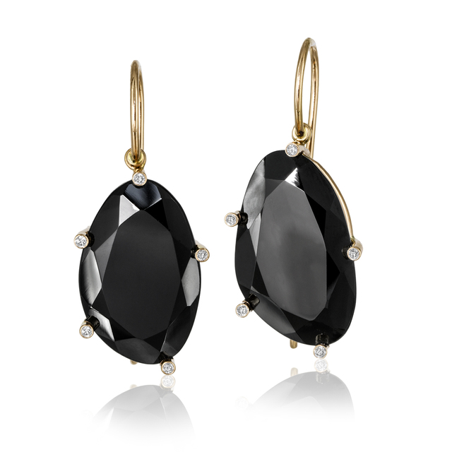 , 'Faceted Black Spinel & Diamond Earrings,' 2015, Szor Collections