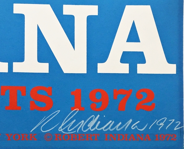 Robert Indiana, 'The American Love (Hand Signed and Inscribed to Richard Lugar, Mayor of Indianapolis who later became a distinguished US Senator)', 1972, Print, Silkscreen Poster. Hand Signed. Dated. Inscribed. Unframed., Alpha 137 Gallery